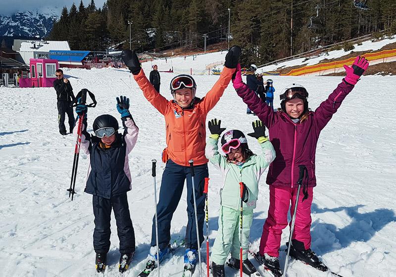 Skikurse an Weihnachten für Kinder