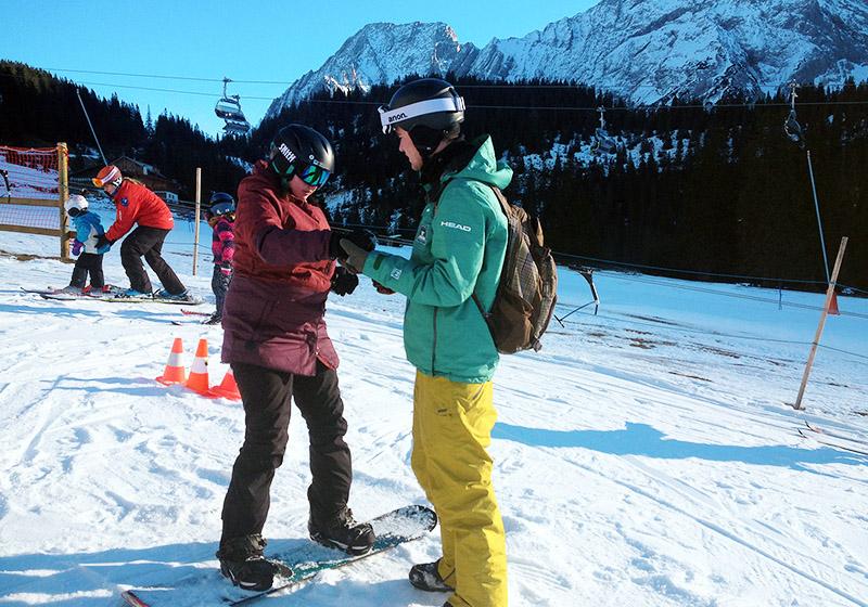Snowboardkurse an Weihnachten für Kinder und Jugendliche